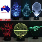 3D Star Trek Death Star Acrylic Table Lamp LED Night Light Remote Base Kid Gifts