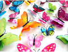 12pcs 3d Double Or Single Layer Wing Butterflies Wall Sticker Magnet Stickers