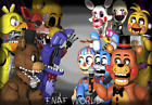 Five Nights At Freddy's Fnaf World Poster Vinyl Wall Sticker Various Sizes