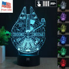 3D Star Wars Millennium Falcon Acrylic Table Lamp LED Night Light + Remote Gifts $18.99 USD on eBay