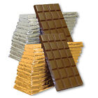 10 x 100g Milk Chocolate Bar Silver/Gold Foils To Make your own Favours & Gifts.