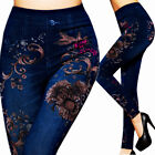Women Leggings Pencil Pants Trousers New Skinny High Waist Stretchy Jeans Denim