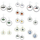 Aminco Dangle Hoop Earring Dangle Charm NFL PICK YOUR TEAM on eBay