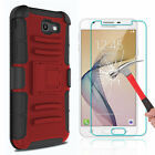 For Samsung Galaxy J7 V/Prime/Sky Pro Case With Kickstand Clip+Screen Protector