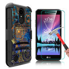 For LG Rebel 2/Phoenix 3/Fortune Case With Kickstand Belt Clip+Screen Protector