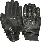 Weise Daytona Mens Kangaroo Leather Black Sport Racing Motorcycle Gloves