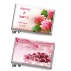 LARGER SIZE 50 Personalised Chocolate Wedding Favours *NEW Bigger, Better Value*