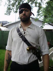 Pirate flintlock gun shoulder single or double holster. Fits most flintlock!