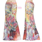 Women's LONG SKIRT Floral Colorful Lines maxi (S/M/L/XL/1XL/2XL/3XL)