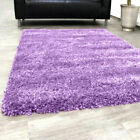 Lilac Small X Large Modern Plain 5cm Shaggy Rugs Thick Soft Pile Area Rug Mats