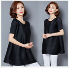 Women Casual Top Autumn/Spring 2018 Black Pearl Beaded A-Word Long Section Top
