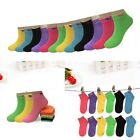 New 6 12 Pairs Dozen Child Girls Kids Candy Color Ankle Socks Cotton Multi Size