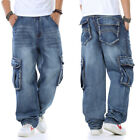 Mens Jeans Relaxed Fit Cargo Pants Big Tall Loose Style Rugged Plus Size 32W-46W
