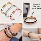 Womens Elegant Stainless Steel Bangle Bracelet Hair Band Holder Accessory