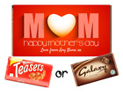 Mothers Day - Personalised Chocolate Bar - Comes with Chocolate - Mum Heart