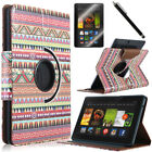 "ULAK 360 Rotating Leather Case Cover w/ Stand for Amazon Kindle Fire HDX 7"" 2013"