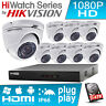 HIKVISION CCTV SYSTEM 2MP CAMERA OUTDOOR NIGHT VISION 4CH 8CH HIWATCH DVR KIT UK