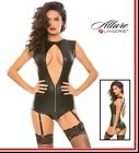 Body in similpelle Sassy Open Front Teddy Allure Lingerie Sexy shop Fetish donna
