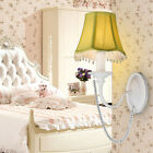 Crystal Wall Sconce Creative Fabric Shade Wall Light Girl's Bedroom Lighting 277