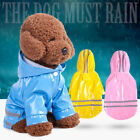 Pet Cat Waterproof Hoodie Raincoat For Small Puppy Dog Solid Jacket Colthes S-XL