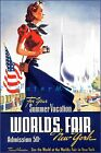 World's Fair 1939 New York City Vintage Poster Print Summer Vacation