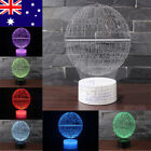 AU Star Wars Death Star 3D LED Night Light Touch Switch Desk Table Lamp 7 Color $18.99 AUD