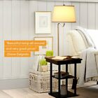 Brightech Madison LED Floor Lamp Swing Arm Lamp w/ Shade & Built In End Table