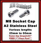 M8 Socket Cap Stainless Steel A2