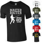 MASTER BAITER Tshirt Tee Top Funny Fishing Fisherman Tackle Bait Joke Gift NEW