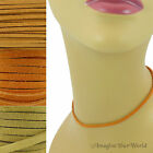 3 mm Suede Lace Necklace or Choker Custom Length pick shade Orange+ leather cord