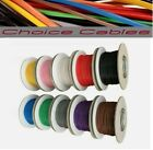 1.0MM AUTO CABLE, 12/24V THINWALL RED TRACER STRIPED CAR BOAT WIRE 16.5 AMP