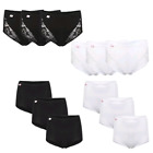 3 PAIRS WOMENS LADIES COMFORT LACE PLAIN MAXI BRIEFS KNICKERS BLACK WHITE