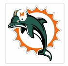 Miami Dolphins Sticker S114 Football YOU CHOOSE SIZE $13.95 USD on eBay