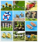 Various Set Miniature Fairy Garden Terrarium Figurine Ornament Bonsai DIY Craft