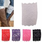 Short Cover Trim Women Toppers Floral Stretchy Leg Boot Cuffs Lace Socks