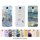 Soft TPU Silicone Case For LG K10 LTE Protective Phone Back Cover Skins Marble