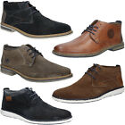 Mens Shoes Rieker Boots Leather Formal Ankle Comfortable Lace Up Size 7-11.5 NEW