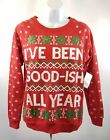 """I've been good-ish this year"" Ugly Sweater Light up Christmas Sweatshirt▪NEW"