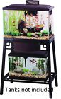 Double Aquarium Stand Customize Space Saver 24 to 30 Inch Holds 2 Tanks