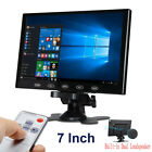 "Mini 7"" LCD CCTV Monitor PC Screen AV RCA VGA  HDMI 1080p for DSLR Raspberry PI"