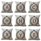 """18"""" Olive Branch Letter Linen Sofa Decor Throw Pillow Case Waist Cushion Cover image"""