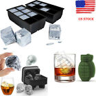 8 Big Cube/Skull /Grenade Giant Jumbo Silicone Ice Cube Square Tray Mold Mould