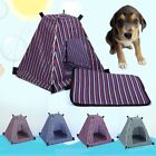 Outdoor Portable Camping Dog Cat Pet Tent Bed Folding House Kennel Cave Pad Mat