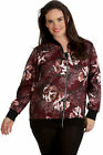 New Ladies Plus Size Bomber Jacket Womens Abstract Floral Print Sale Soft Ribbed