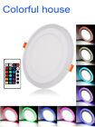 RGB 16 Colour Changing Ring LED Lamp White Ceiling Panel Down Light Mood Light