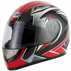 VCAN V158 EVO RED FULL FACE MOTORCYCLE HELMET