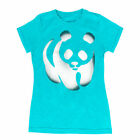 Juniors WWF World Wildlife Fund Panda Blue T-shirt Tee