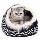 NewSuper Warm Cat Cave Bed Dog House Puppy Kennel Shelter Soft For Kitty Rabbit