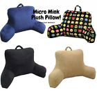 Micro Mink Plush Bed & Back Rest Pillows TV Lounger Couch Floor Reading Pillows
