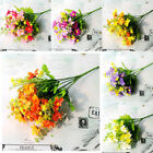 2 Bundles In/Outdoor Artificial Flowers Wedding Home Garden Decor Faux Plant US